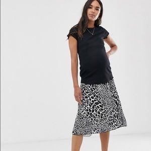 ASOS Maternity Under the Belly Giraffe Midi Skirt
